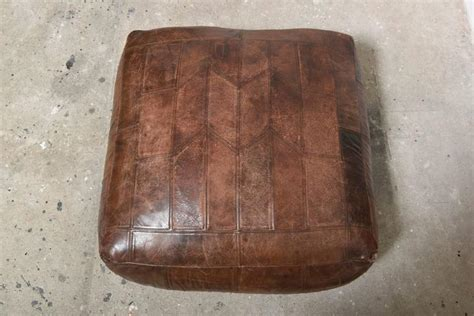 patchwork leather ottoman mid century patchwork ottoman in leather from de sede