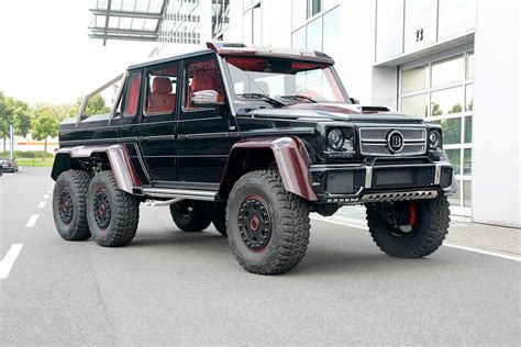 mercedes jeep 6 wheels brabus mercedes benz g63 amg 6x6 now sports red carbon