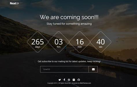 coming soon template next responsive coming soon bootstrap template webthemez