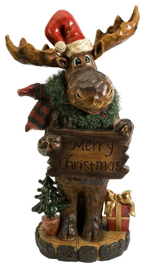 christmas moose home decor christmas moose transitional christmas decorations