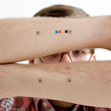 crop mark and cmyk swatch temporary tattoos victoria s
