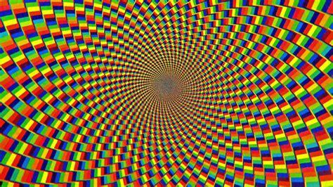 perfect loop technicolor hypnotic spiral background