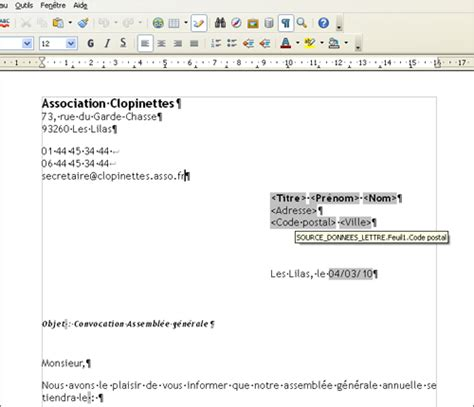 Exemple De Lettre Type Pour Publipostage Lilapuce Publipostage Lettre Ooo