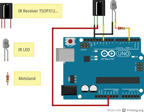 ir led resistor arduino arduino remote tutorial electronics lab
