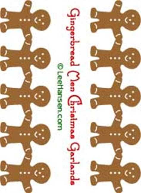 gingerbread men garland template  die cut file