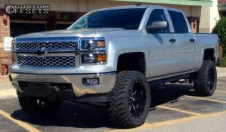 2014 Chevrolet Silverado Lifted Wheel Offset 2014 Chevrolet Silverado 1500 Slightly