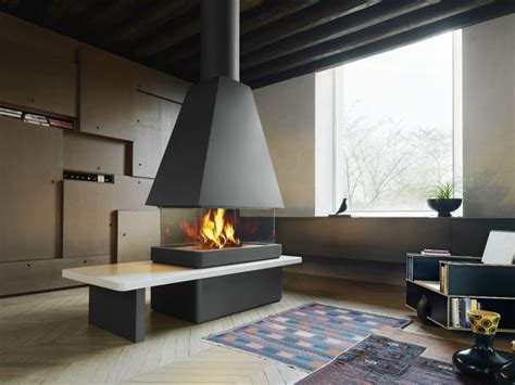 Central Fireplace Design by Modern Fireplace Design By Montegrappa