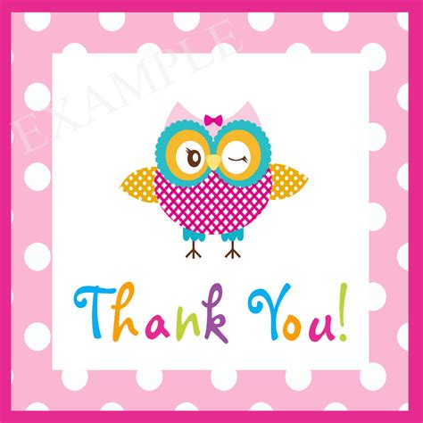 printable owl thank you cards items similar to its a girl owlie printable owl baby