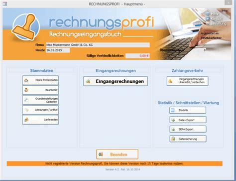 buchhaltung zu hause rechnungseingangsbuch freeware de
