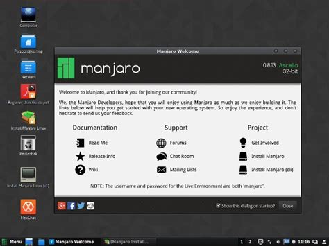 Manjaro 16061 Live Dvd Linux Os manjaro linux cinnamon 0 8 13 officially released with the
