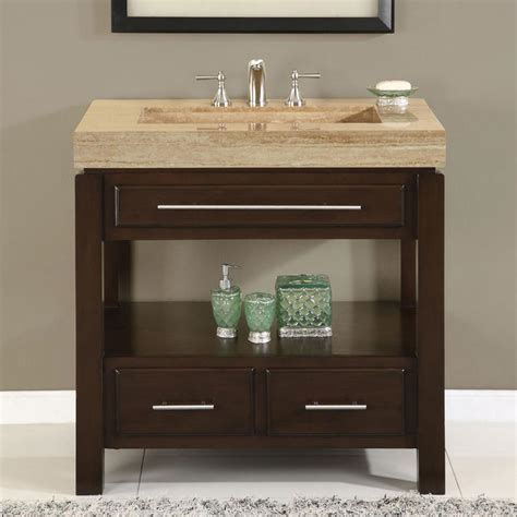 Vanity Cabinets For Bathrooms 36 Perfecta Pa 5522 Bathroom Vanity Single Sink Cabinet Walnut Finish Bathroom