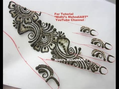 henna tattoo tutorial youtube simple repeatable shaded arabic henna mehndi design