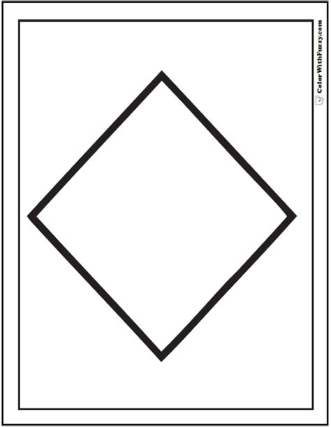 diamond coloring pages preschool shape coloring pages customize and print