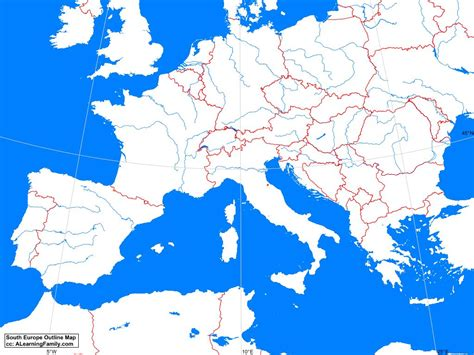 south of europe map south europe outline map a learning family