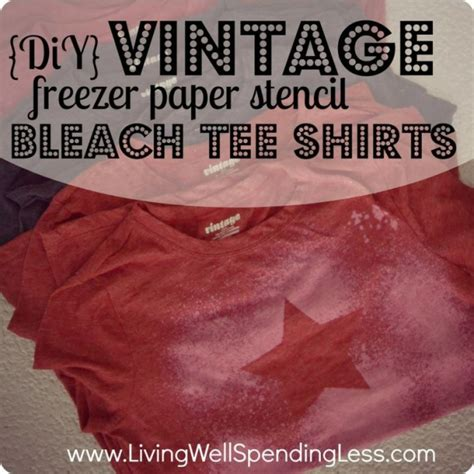 Handmade T Shirts Ideas - diy vintage freezer paper stencil t shirts great