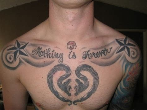 meaningful chest tattoos for men creative chest for