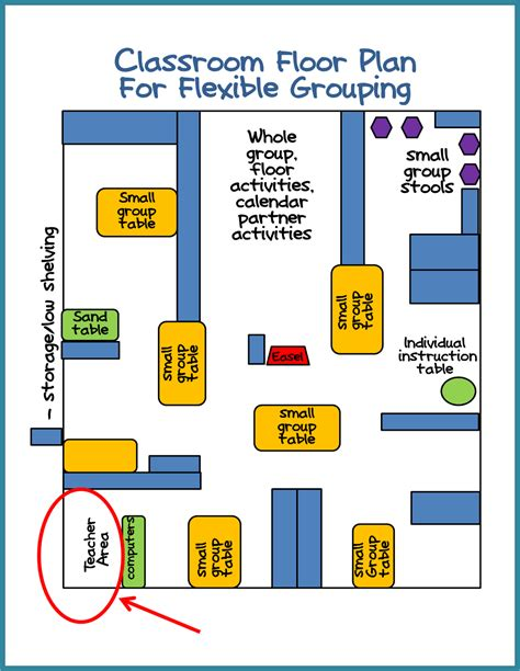 floor plan of preschool classroom kindergarten classroom set up