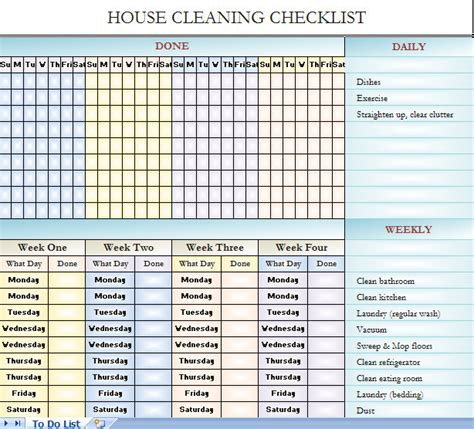 best photos of blank house cleaning checklist free