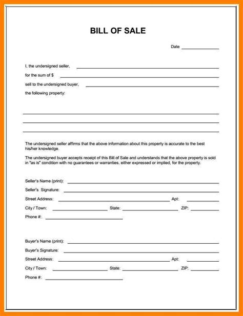 4 texas trailer bill of sale lease template