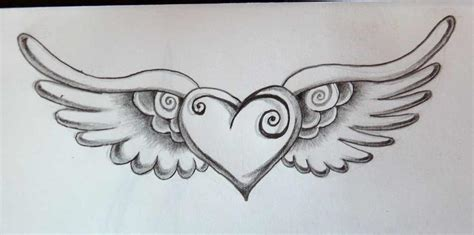 tattoo with angel wings and heart heart with wings tattoo