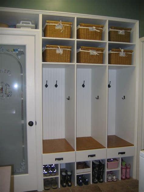 Garage Cubbies by Garage Organization Ideas Cubby Shelves