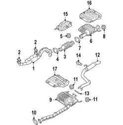 Kia Exhaust System Diagram Parts 174 Kia Sedona Exhaust Components Oem Parts