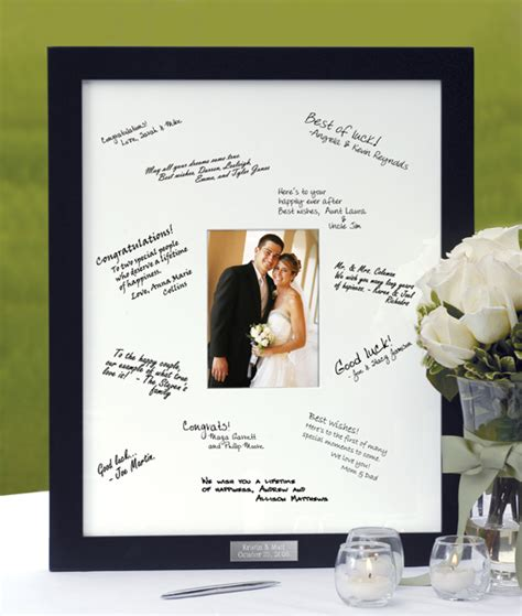 picture frame guest book guest book picture frame mat weddingbee