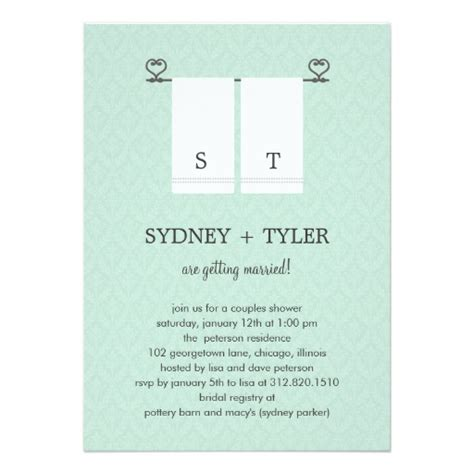 his and hers invitations templates his and hers wedding shower invitation blue zazzle