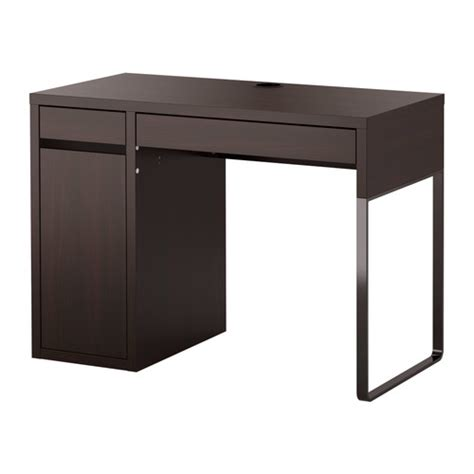 table bureau ikea micke desk black brown ikea
