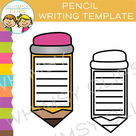 pencil template free clip images illustrations whimsy