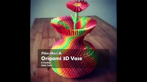 How To Make A 3d Origami Flower Vase - 3d origami colorful vase