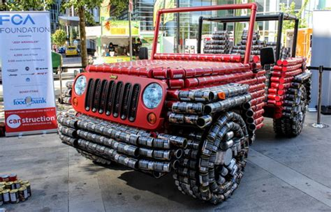 Where Are Jeep Wranglers Made Jeep Wrangler Made Of Food Tins Cars Show