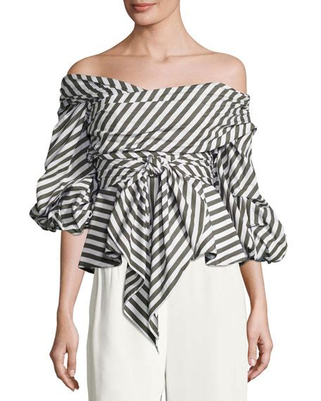 Vsh2008 Dress Stripe Rosa johanna ortiz santa rosa striped shoulder top white