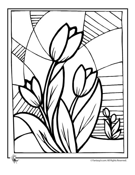 spring house coloring pages coloring pages for spring coloring home