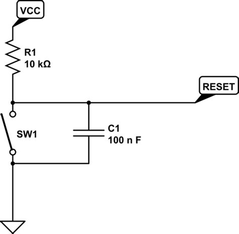 resistor capacitor reset circuit microcontroller use or remove reset capacitor electrical engineering stack exchange