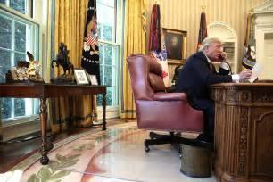 trump oval office desk north korea does not want peace talks it wants to bully
