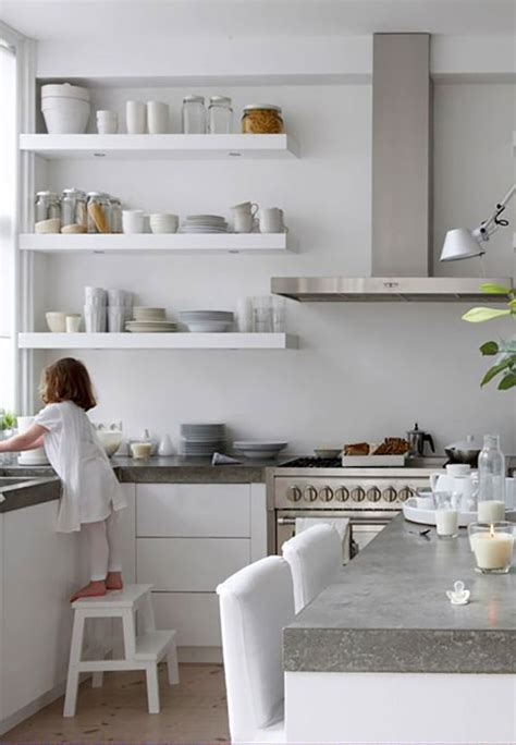 trend floating shelves in the kitchen la la lovely