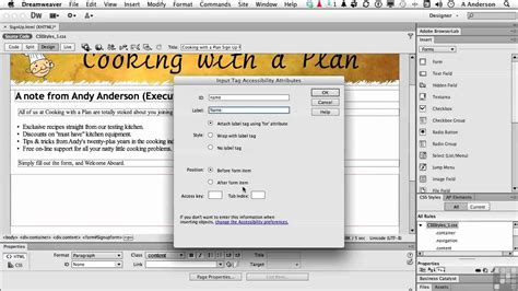 tutorial in dreamweaver cs6 dreamweaver cs6 tutorial adding multiple text fields
