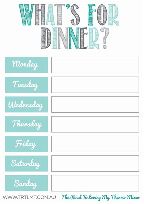 printable meal planning sheets free meal planning printables printables pinterest