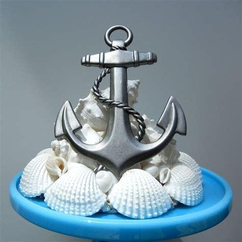 Custom Made Sea Anchor   Seashell Starfish Wedding Cake