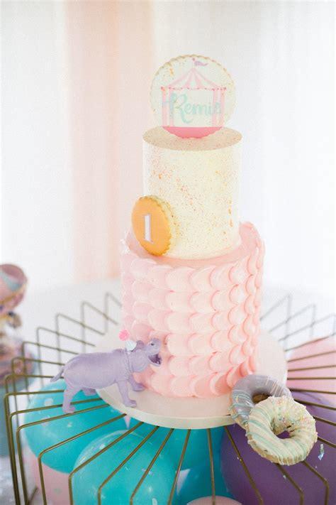 karas party ideas pastel circus animal birthday party