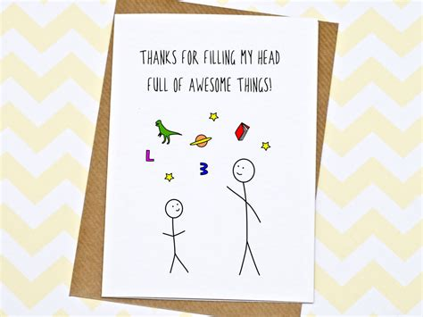 Thank You Note To Preschool Assistant Card Thank You Card Thanks For Teaching Me