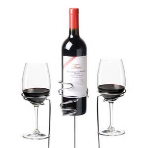 Wine sticks glass and bottle holder 3 piece set