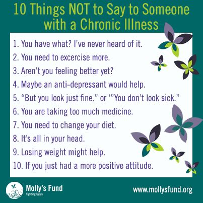 7 Things Not To Say At Our Next by 10 Things Not To Say To Someone With A Chronic Illness