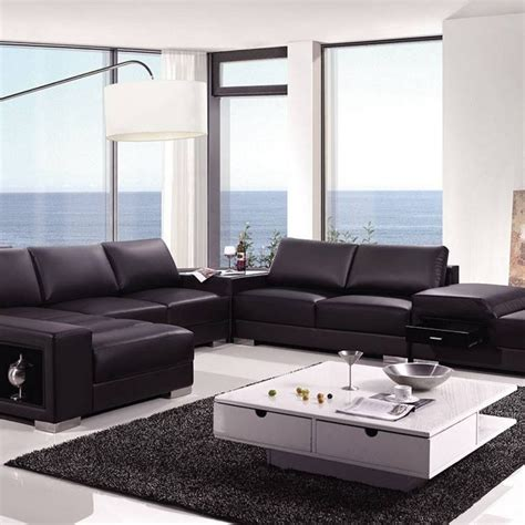 High End Leather Sectional Sofa 01 Western Furniture High End Leather Sectional Sofa