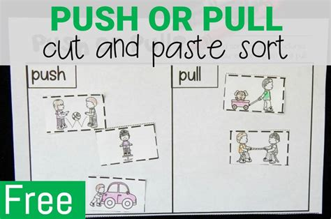 Push And Pull Worksheets For Kindergarten by Freebies Archives Page 11 Of 27 The Kindergarten
