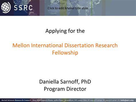 dissertation funding ssrc dissertation funding