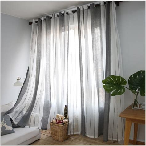 grey curtains for living room 2017 gray vertical stripes minimalist living room mediterranean style bedroom curtains sheer one