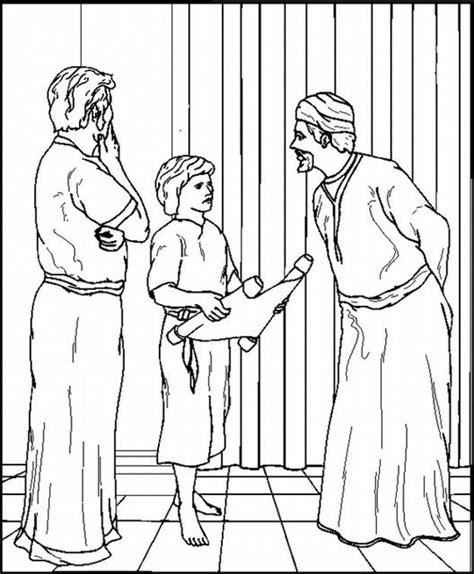 coloring pages baby jesus in the temple page