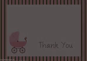 baby shower thank you card etiquette thank you card ideas